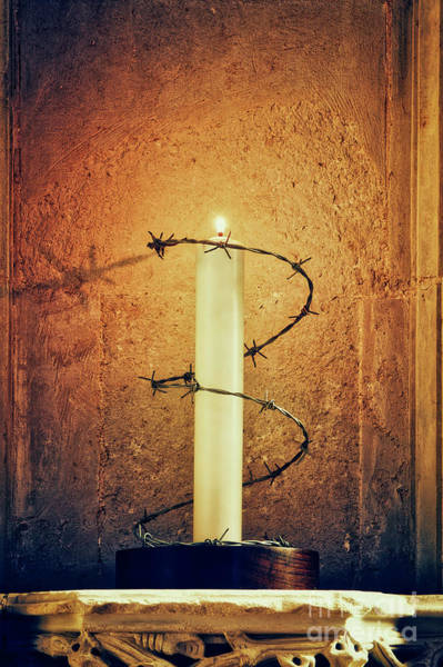 Grace Cathedral Photograph - Ely Cathedral Amnesty Candle by Tim Gainey