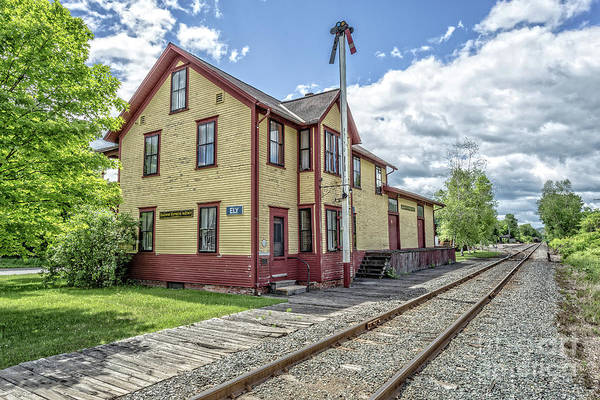 Wall Art - Photograph - Ely Vermont Train Station by Edward Fielding