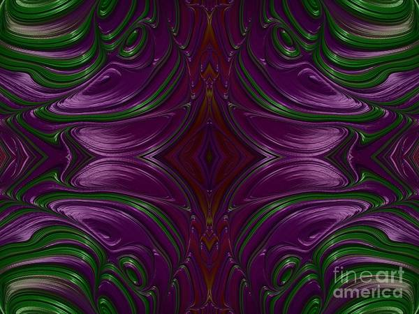 Digital Art - Emerald And Amethyst Jeweled Fractal Abstract by Rose Santuci-Sofranko