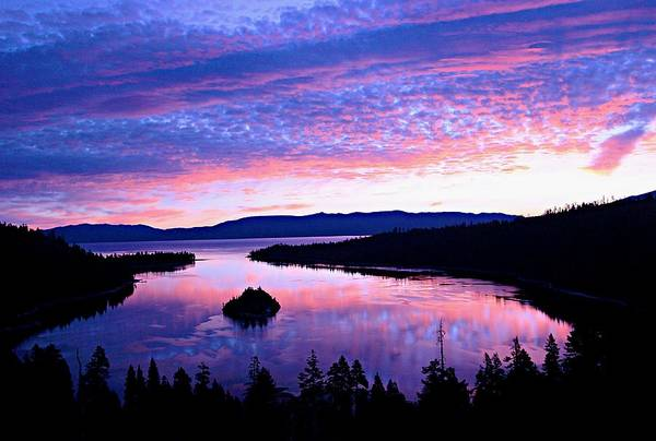 Photograph - Emerald Bay Pastel Sunrise by Sean Sarsfield