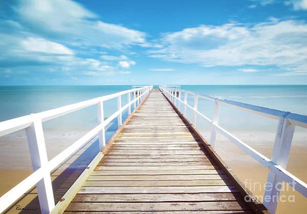 Photograph - Emerald Coast Florida Pier Seascape C2 by Ricardos Creations