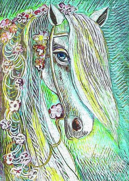 Painting - Emerald Horse by Eva Campbell