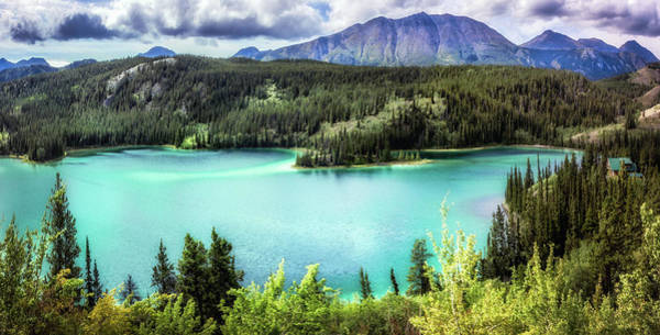 Photograph - Emerald Lake In The Yukon by Claudia Abbott