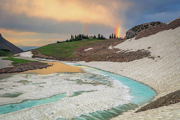 Photograph - Emerald Lake Rainbow by Johnny Adolphson