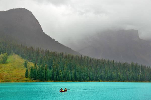 Photograph - Emerald Lake by Songquan Deng