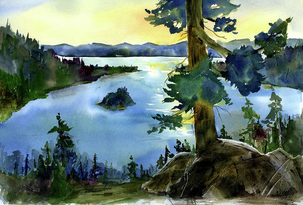 Painting - Emerald Morn, Lake Tahoe by Joan Chlarson