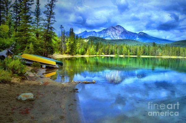 Photograph - Emerald Reflections At Lake Edith by Tara Turner