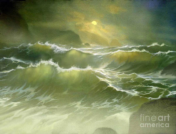 Wall Art - Painting - Emerald Sea by Robert Foster