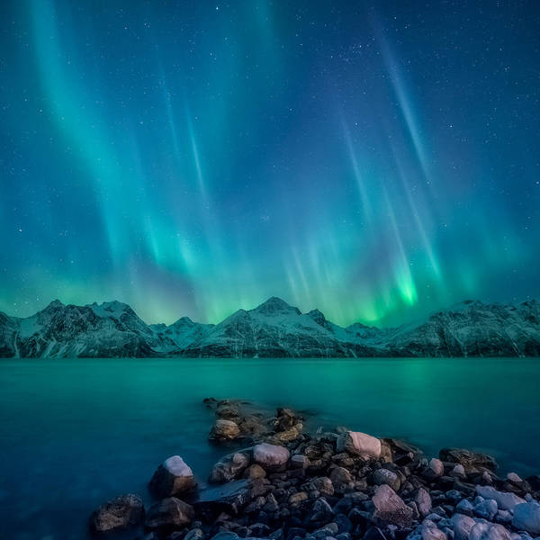Light Photograph - Emerald Sky by Tor-Ivar Naess