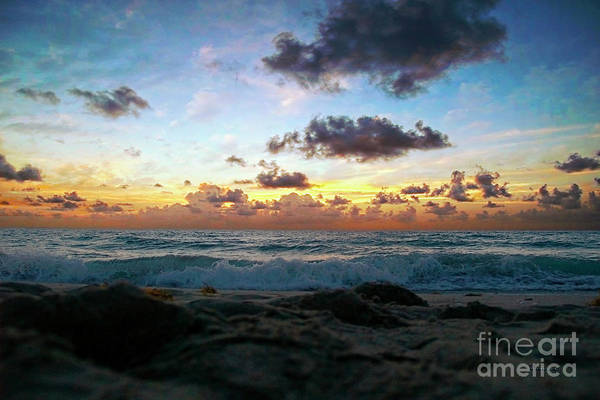 Photograph - Emerald Sunset  Seascape 141a by Ricardos Creations