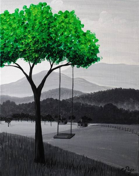 Painting - Emerald Tree by Emily Page