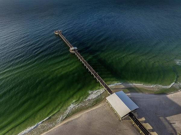 Digital Art - Emerald Waters At The Gulf State Pier by Michael Thomas