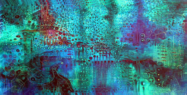 Surrealistic Painting - Emerald World by Lolita Bronzini