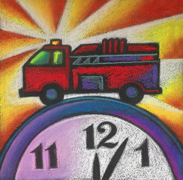 Wall Art - Painting - Emergency by Leon Zernitsky