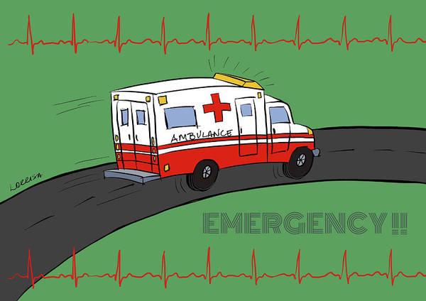 Digital Art - Emergency  by Lorrisa Dussault