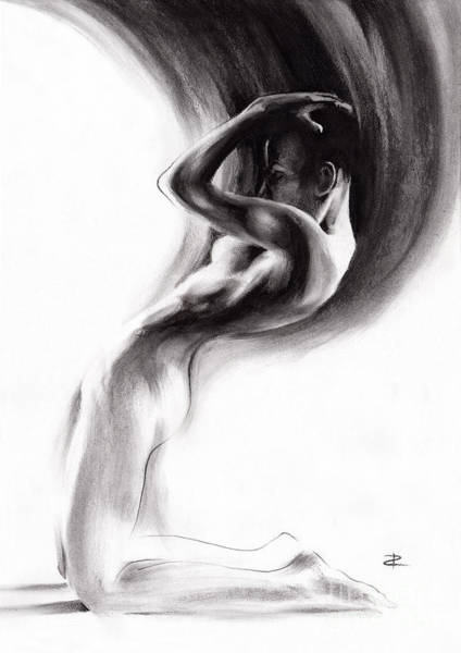 Kindle Wall Art - Drawing - Emergent 1b by Paul Davenport