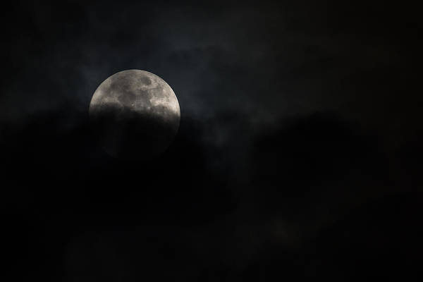 Photograph - Emerging Christmas Eve Full Moon 2015 by Terry DeLuco