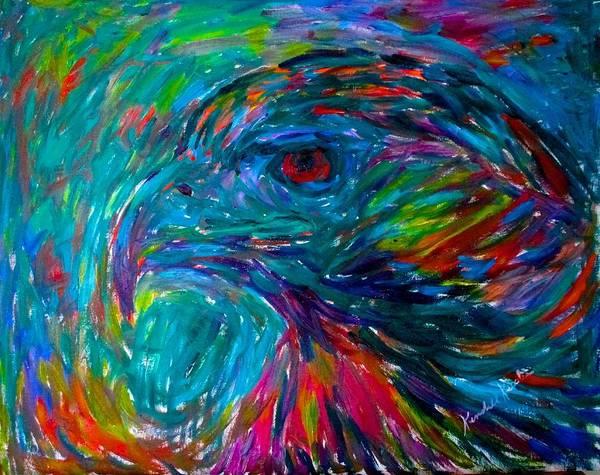 Painting - Emerging Hawk Stage One by Kendall Kessler
