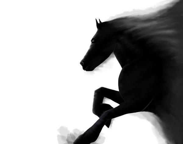 Andrew Jackson Wall Art - Painting - Emerging Stallion by Andrew Jackson
