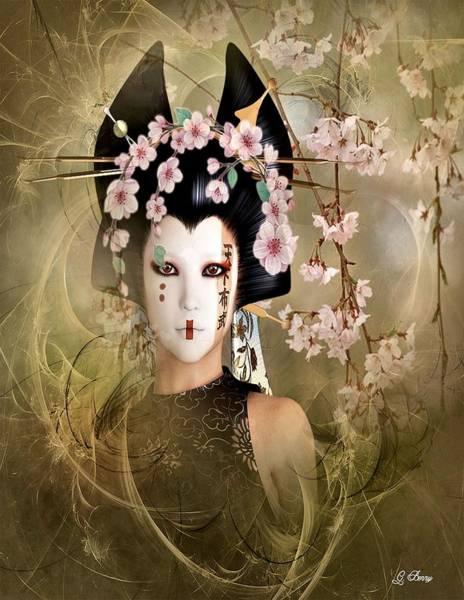 Geisha Mixed Media - Emi  by G Berry