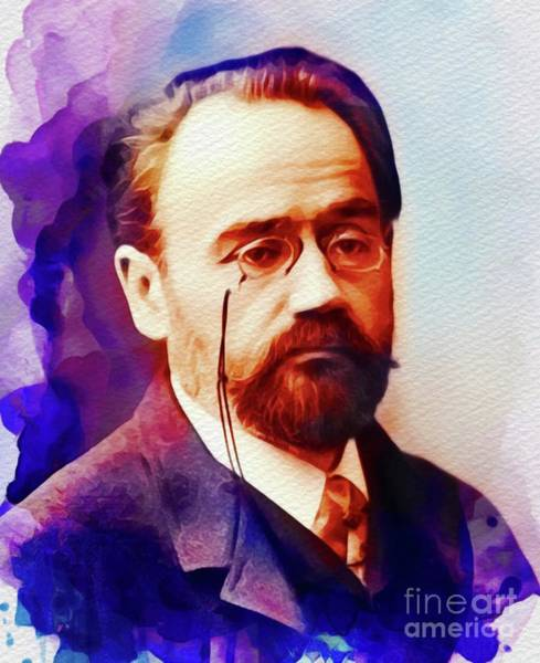 Philosopher Wall Art - Painting - Emile Zola, Literary Legend by John Springfield