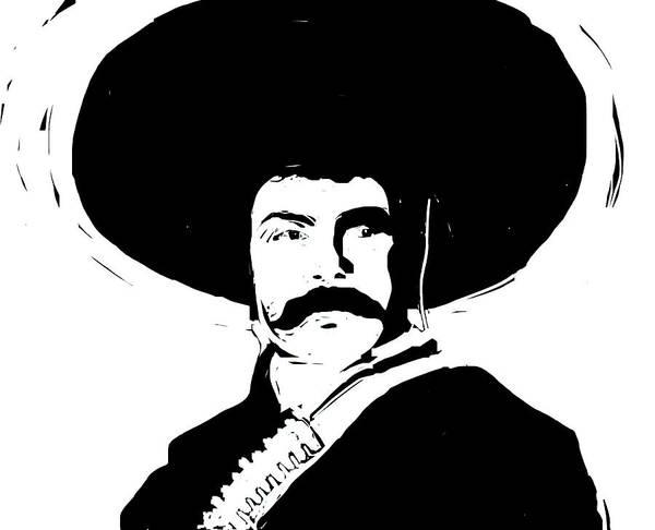 Emiliano Zapata Digital Art - Emiliano by Rob Prince