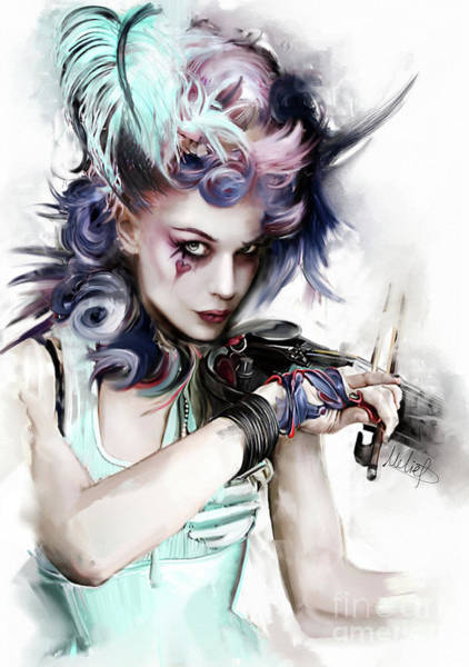 Violinist Wall Art - Painting - Emilie Autumn by Melanie D