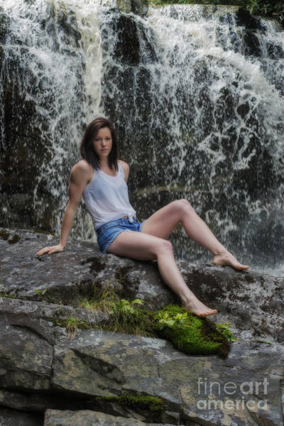 Photograph - Emily At The Falls by Dan Friend
