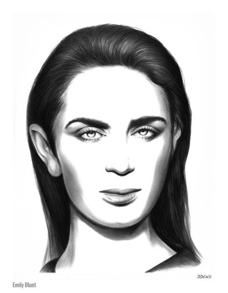 Actress Drawing - Emily Blunt by Greg Joens