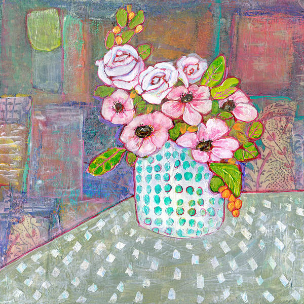 Wall Art - Painting - Emily Roses Flowers by Blenda Studio