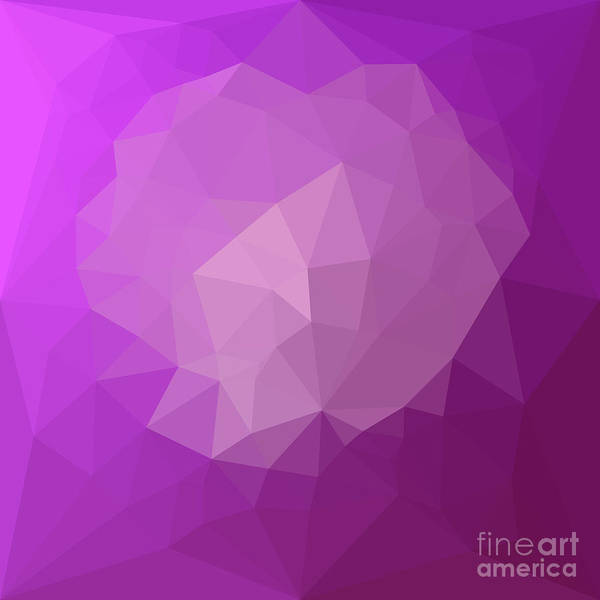 Wall Art - Digital Art - Eminence Violet Abstract Low Polygon Background by Aloysius Patrimonio