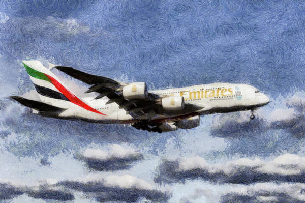 Wall Art - Photograph - Emirates A380 Art  by David Pyatt