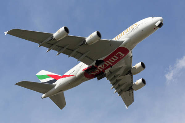 Photograph - Emirates A380 by John Daly