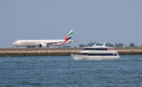 Photograph - Emirates Airlines 777 Taxiing At Logan Airport by Brian MacLean