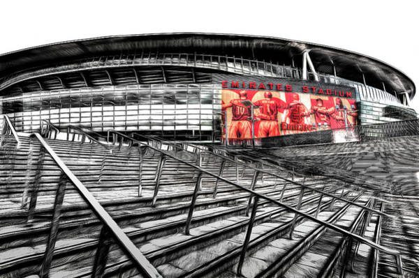 Wall Art - Mixed Media - Emirates Stadium London Art by David Pyatt
