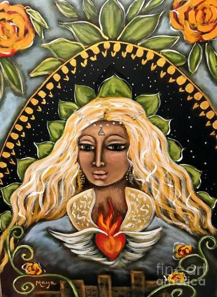 Pleiades Painting - Emissary by Maya Telford