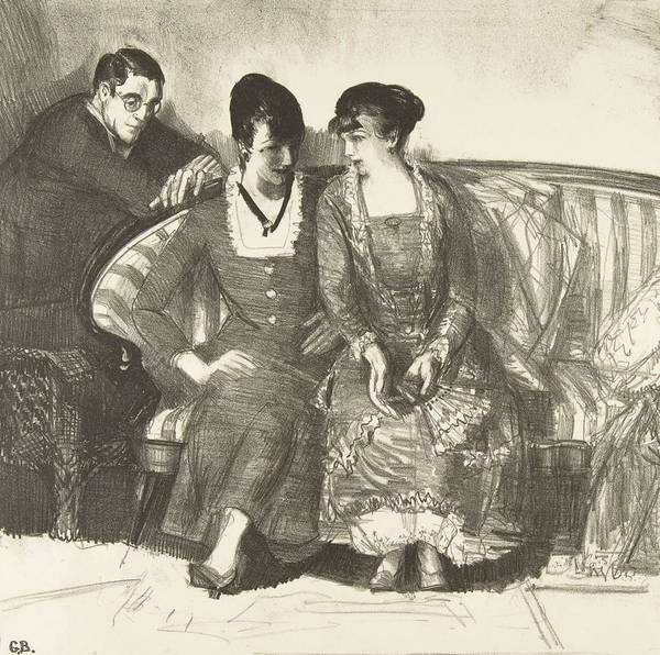Relief - Emma, Elsie And Gene by George Bellows