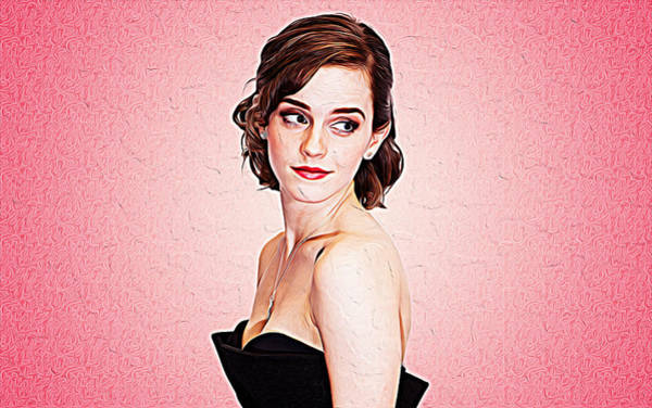 Rupert Grint Wall Art - Painting - Emma Watson by Queso Espinosa