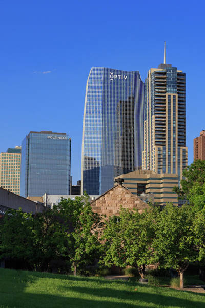 Mile High City Photograph - Emmanuel Chapel And Denver's Newest Skyscrapers by Bridget Calip