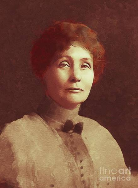 Equal Rights Wall Art - Painting - Emmeline Pankhurst, Suffragette by Mary Bassett
