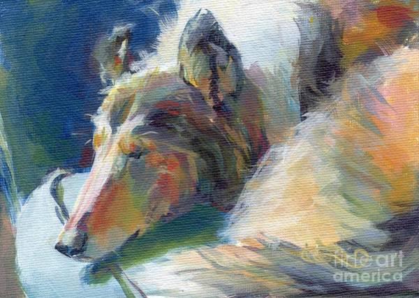 Collie Painting - Emmies Beauty Sleep by Kimberly Santini