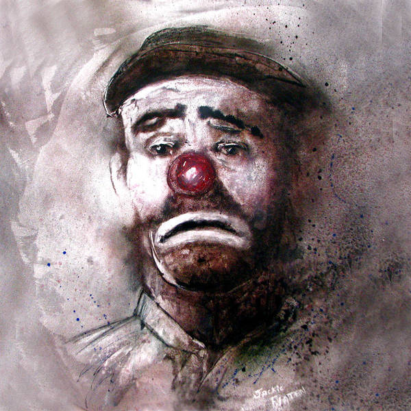 Painting - Emmit Kelly Clown by Jackie Flaten