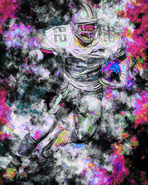 Photograph - Emmitt Smith Dallas Cowboys Painting Digital 13 by David Haskett II