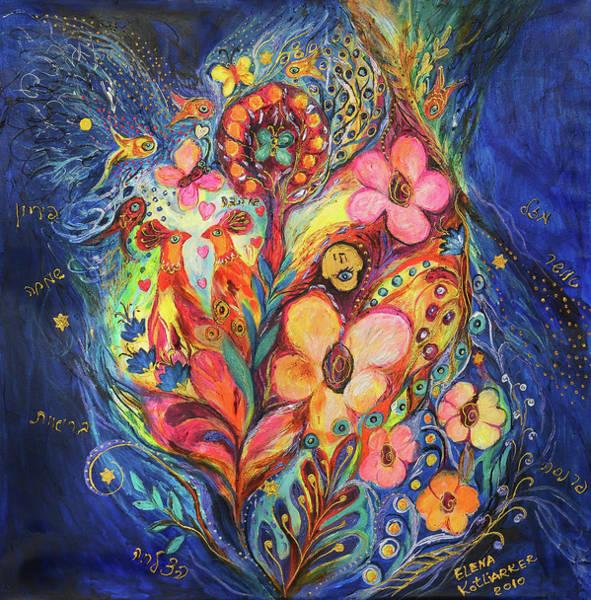Wall Art - Painting - Emotion In Blue by Elena Kotliarker