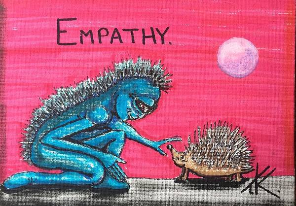 Painting - Empathetic Alien by Similar Alien