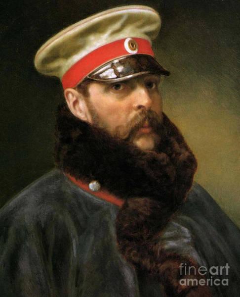 Mustache Painting - Emperor Alexander II by Russian School