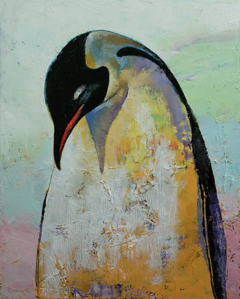 Arte Painting - Emperor Penguin by Michael Creese