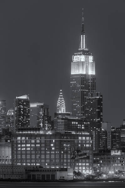 Landmarks Photograph - Empire State And Chrysler Buildings At Twilight II by Clarence Holmes