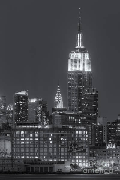 Landmark Photograph - Empire State And Chrysler Buildings At Twilight II by Clarence Holmes