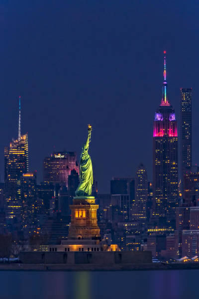 Photograph - Empire State And Statue Of Liberty II by Susan Candelario